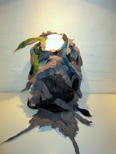 Scarf - silk chiffon and merino