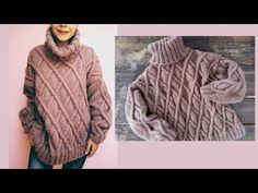 Suéter para mujer tejido a dos agujas ¡Paso a paso! Parte 1 - YouTube Hippie Boho, Turtle Neck, Pullover, Knitting, Amor Youtube, Sweaters, Jackets, Ideas Para, Fashion