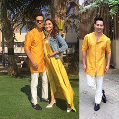#badrinathkidulhania @thetyagiakshay. Wearing @shiraz3180 #mangopeople. 4 days to go