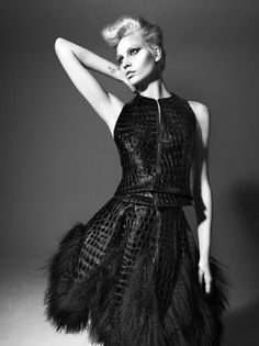 Aline Weber by Miguel Reveriego | Vogue, Germany March 2012