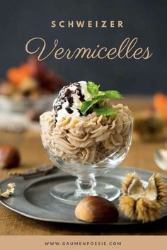 Vermicelles Swiss Recipes, Delicious Desserts, Dessert Recipes, Torte Recipe, Holiday Traditions, Panna Cotta, Deserts, Pudding, Sweets