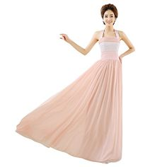Bzybel Women's Halter Colorbloack Evening Party Dresses Long Bridesmaid Prom Gowns Bzybel http://www.amazon.com/dp/B01348CPCU/ref=cm_sw_r_pi_dp_ZmE2vb140M0Y7
