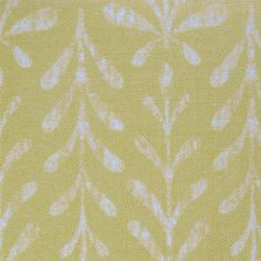 Kaftor Leaf Lemon Lime. Available printed on linen, cotton, cotton linen blends. © Ellen Eden