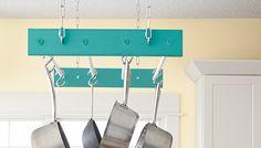 DIY hanging pan rack - Google Search