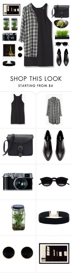 """organized black"" by tinkertot ❤ liked on Polyvore featuring MANGO, Madewell, Retrò, Chicnova Fashion, Alöe, Pottery Barn and Polaroid"
