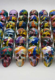 Damien Hirst skulls