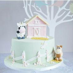 Farm barnyard cake birthday party