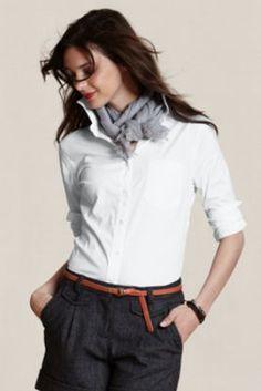 Women's Stretch Poplin Shirt  from Lands' End Canvas