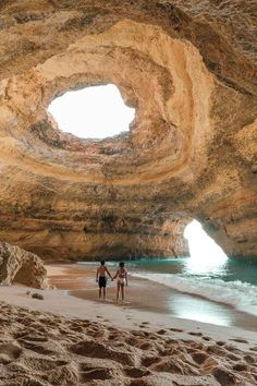 How to visit Benagil Cave in the Algarve, Portugal. You don& want to miss these sea caves in Portugal! How to visit Benagil Cave in the Algarve, Portugal. You dont want to miss these sea caves in Portugal! Algarve, Portugal Tourism, Portugal Travel, Visit Portugal, Portugal Vacation, Sintra Portugal, Destination Voyage, European Destination, Beautiful Places To Travel