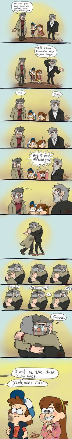 I know Stan will forgive and forget very quickly because he's a kind hearted sweetie. And Ford just has to get his shit together
