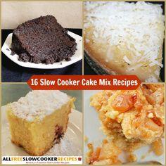"Printable slow cooker recipes! ""Slow Cooker Cake Mix Recipes: 16 To-Die-For Recipes with Cake Mix "" Free eCookbook"