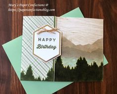 Pinterest Birthday Cards For Men, Male Birthday, Stampin Up Paper Pumpkin, Pumpkin Cards, Fathers Day Cards, Card Sketches, Masculine Cards, Card Kit, Paper Cards