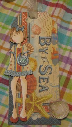 prima doll tag using Graphic 45 By the Sea paper