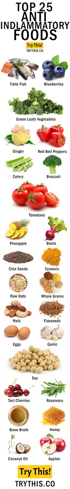 Top 25 Anti-Inflammatory Foods http://healthyquickly.com/27-proven-tummy-tightening-foods/