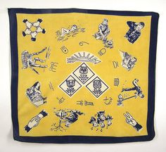 Your place to buy and sell all things handmade Cub Scout Uniform, Cub Scout Activities, Vintage Bandana, Volunteer Gifts, Bowling Bags, Craft Club, Neckerchiefs, Cub Scouts, Surface Pattern Design