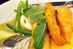 Lenguado con salsa de mango y ensalada Soleé