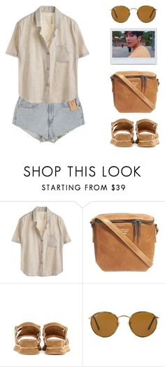 """GOOD FOR YOU"" by arditach ❤ liked on Polyvore featuring Levi's, Matt & Nat, Dries Van Noten, Ray-Ban and DENIMCUTOFFS"