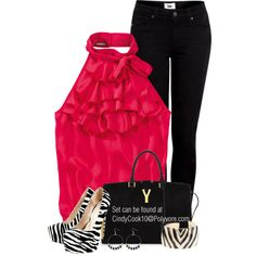 Hot Pink And Zebra, created by cindycook10 on Polyvore