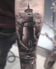 Lighthouse Tattoo by Alessio Favre