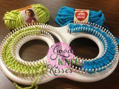 Double knitting on KnittingBoard Super Afghan S loom - GoodKnit Kisses