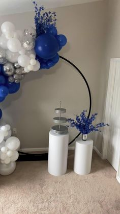 Birthday Decorations At Home, Blue Party Decorations, White Wedding Decorations, Sweet 16 Decorations, Prom Decor, Mini Balloons, Blue Balloons, Baby Shower Balloons, Birthday Balloons