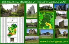 "The Medieval Territory of the Ely O'Carroll Clan,"" created by Tyrone Bowes, Irish Origenes."