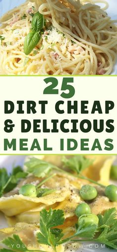 Cheap meal ideas: 25 dirt cheap and delicious meals Cheap Meals For Two, Cheap Healthy Dinners, Dirt Cheap Meals, Healthy Recipes On A Budget, Inexpensive Meals, Cheap Dinners, Healthy Meals For Two, Frugal Meals, Budget Meals