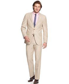 Men's Fashion: Tan Suit, Grey Shirt & Black Tie. | Men's Fashion ...