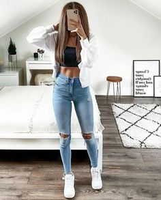 Going Out Outfits, Basic Outfits, Short Outfits, Outfits For Teens, Trendy Outfits, College Outfits, Office Outfits, Girls Fashion Clothes, Fashion Outfits