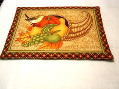 Christmas Fall/Autumn Reversible Placemats  set of by sewinggranny, $24.00