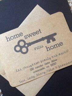 Home Sweet New Change Of Address Card By Simpleandposh More