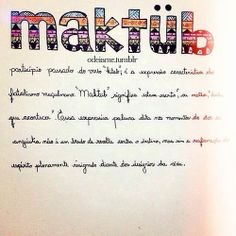 Maktub ❝❞