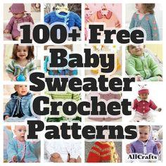 100 Free Baby Sweater Crochet Patterns