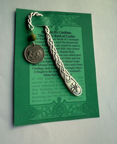 an irish legend coin representing an tin b with connemara marble on a celtic bookmark harp and shamrock student gift christmas gift for dadirish