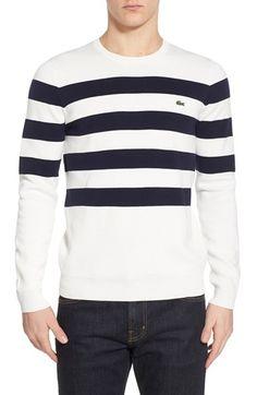 Lacoste Stripe Crewneck Sweater