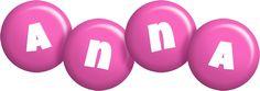 Anna candy-pink logo