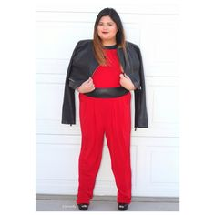 Fierce red jumpsuit from ( www.curvaceousboutique.com )