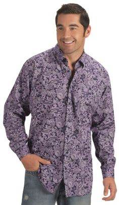 Cinch ®  Purple & Black Floral Paisley Shirt available at #Sheplers