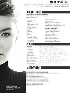 Artist resume, Makeup artists and Resume on Pinterest