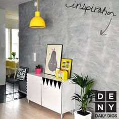 Quirky Yellow | Daily Digs #funky #personality #nook #bright