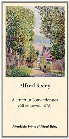 Alfred Sisley - A street in Louveciennes | Affordable Art-prints and Posters of impressionist artists!