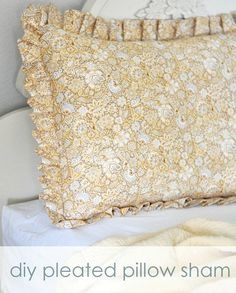 pleated pillow sham tutorial