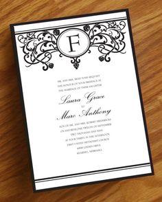 Fancy Flourishes Wedding Invitation by Annamalie on Etsy, $2.25