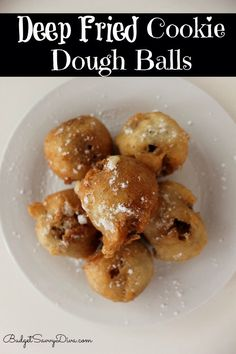 Deep Fried Cookie Dough Balls Recipe