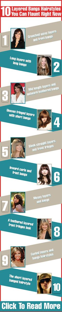 Here are 10 layered bangs hairstyles that will lend you the oomph factor that your look needs for sure! These top picks will definitely inspire you to have a layered hairstyle with bangs