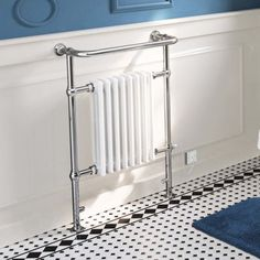 Victoria Electric Traditional Towel Radiator in White 952mm x 659mm