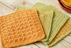 Textured Crochet Dishcloth Patterns