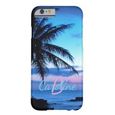 Custom Island Beach Pink Turquoise Blue Sunset Barely There iPhone 6 Case - elegant gifts gift ideas custom presents