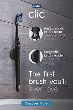 The Oral-B clicmanual toothbrush combines distinctive iconic design with our next gen cleaning performanceandexceptional reach and plaque removal. Best Oral, Take My Money, Home Gadgets, Oral Health, A Table, Health And Beauty, Dental, Cool Things To Buy, Life Hacks