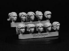 SMA302 Heroic Scale Female Heads 2 statuesqueminiatures.shop033.com